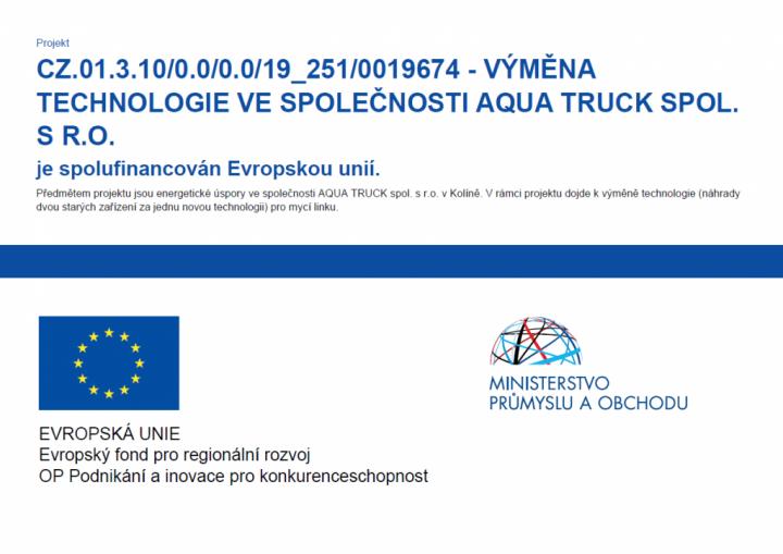 Výměna technologie ve společnosti Aqua Truck spol. s r.o.